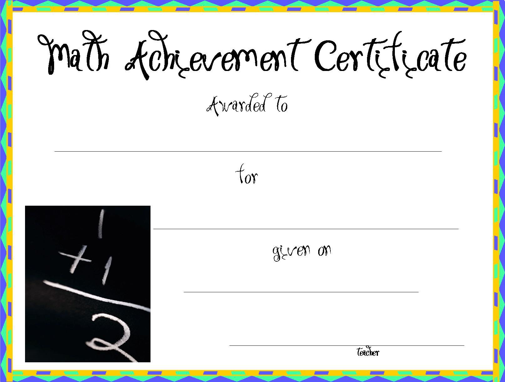 Printable math award redbulstandardinternational printable math award certificates yelopaper Choice Image