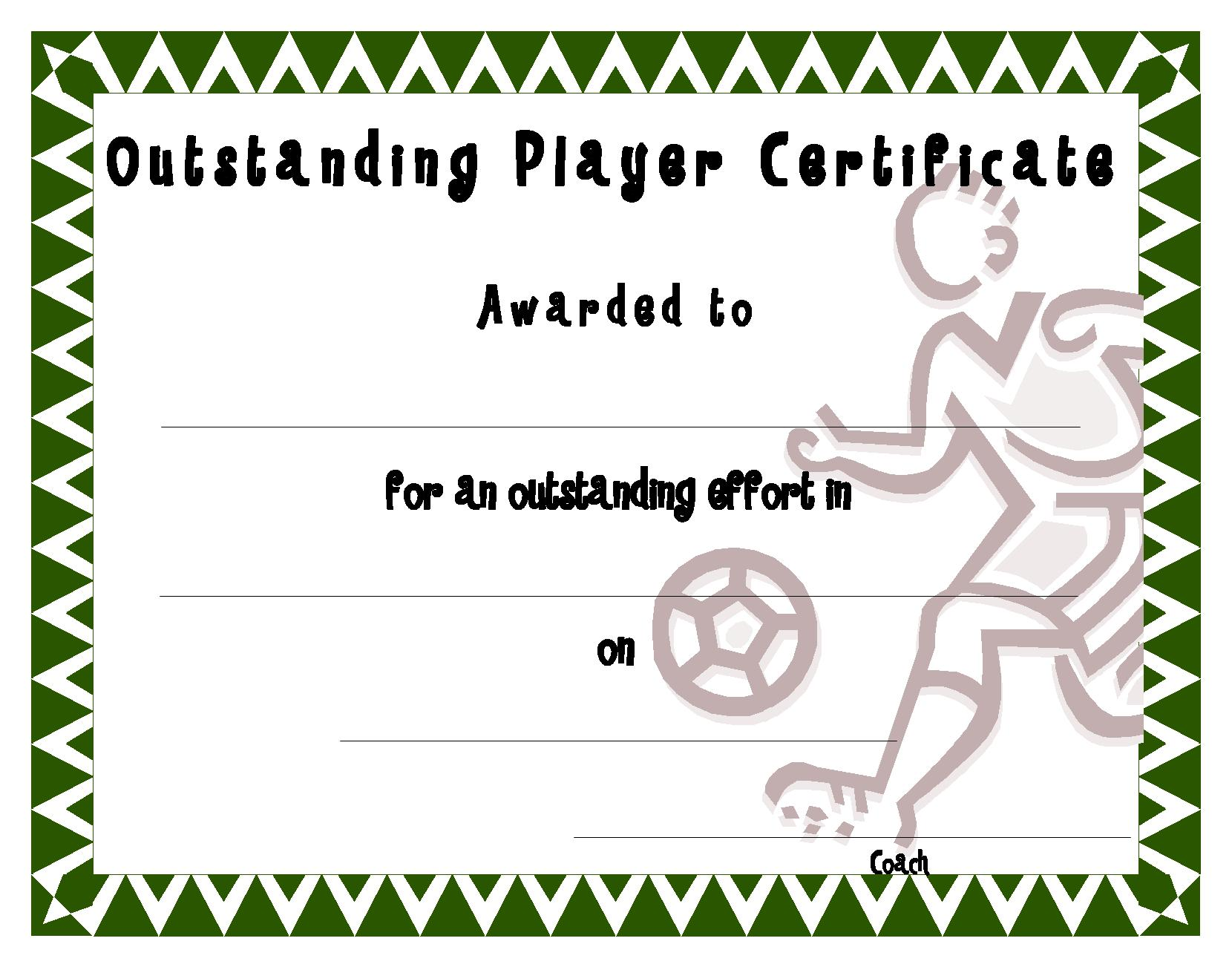 Soccer Award Certificates Template Kiddo Shelter Click To See Full