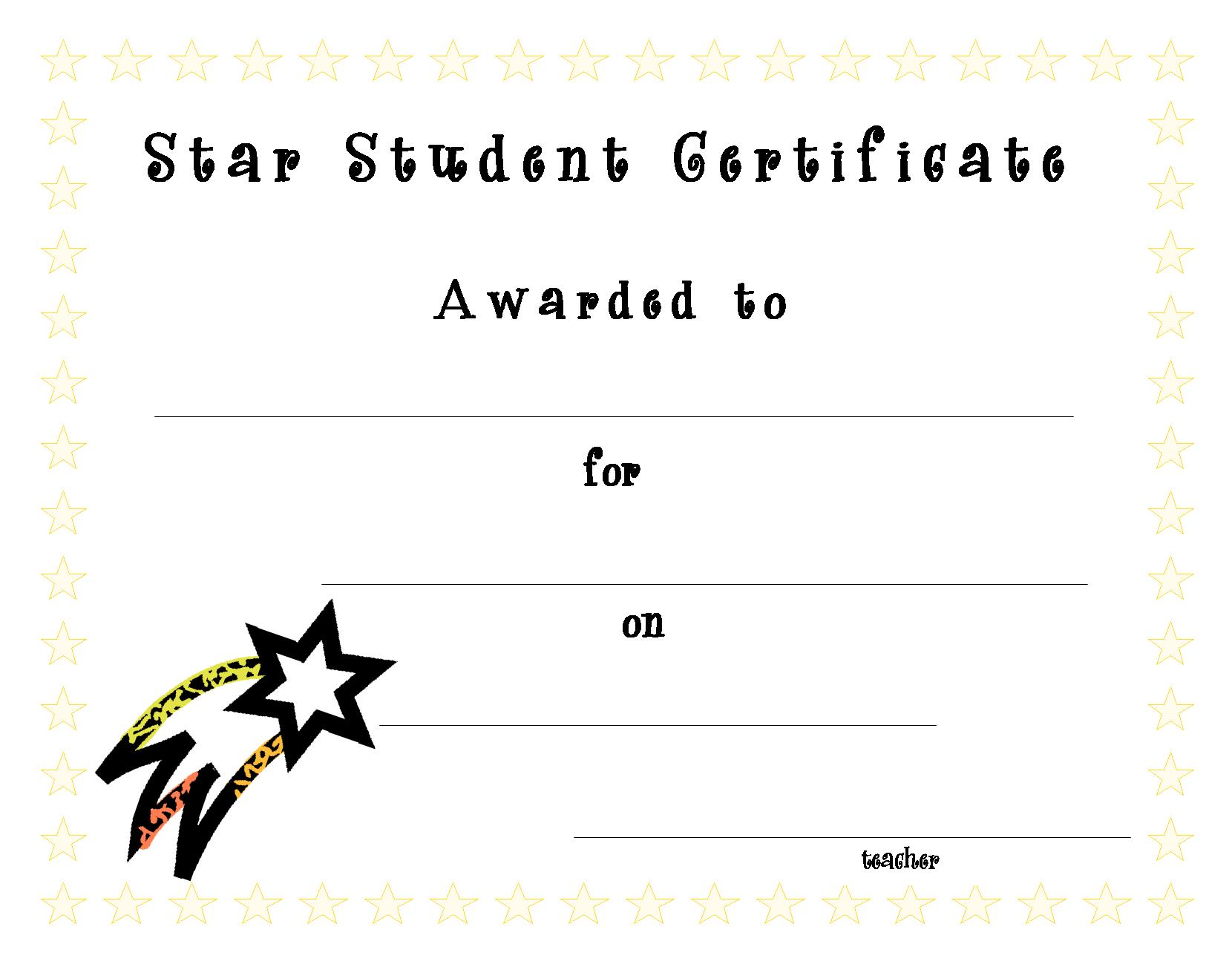 star certificate template costumepartyrun